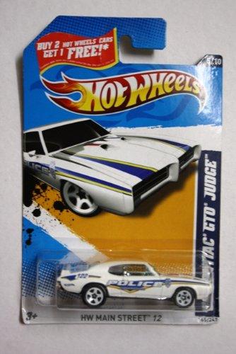 2011 MATTEL HOT WHEELS 1969 PONTIAC GTO JUDGE POLICE DIE CAST CAR 165/247 AND 5 OF 10 IN - Series 165