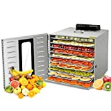 Commercial Stainless Steel Food Dehydrator-Raw Food & Jerky Fruit Dehydrator-1000W Preserve Food Nutrition