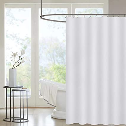 PICURA Fabric Shower Curtain Cloth White Liner Washable Waterproof Mold Free