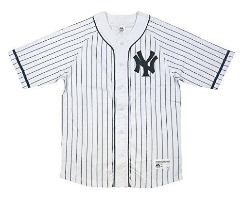 メドレー悪名高いモバイル(マジェスティック) MAJESTIC ニューヨーク ヤンキース ラグランスリーブ ベースボールシャツ