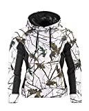 Trail Crest Women's Snow Camo Soft Shell Hooded Jacket W/ Magnet, Small,Snow Camo & Black