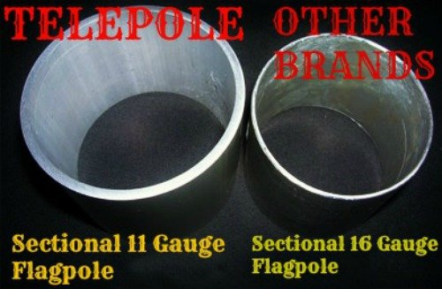 28' Sectional Flagpole with Rope by Telepole Manufacturing Inc