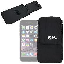 """DURAGADGET Etui housse + poche intèrieure pour l'iPhone 6 Plus (écran 5.5"""") d'Apple- Noir, fermeture à Velcro"""