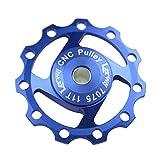 Lerway Aluminium Jockey Wheel Rear Derailleur Pulley SHIMANO SRAM 11T 1pcs (Blue)