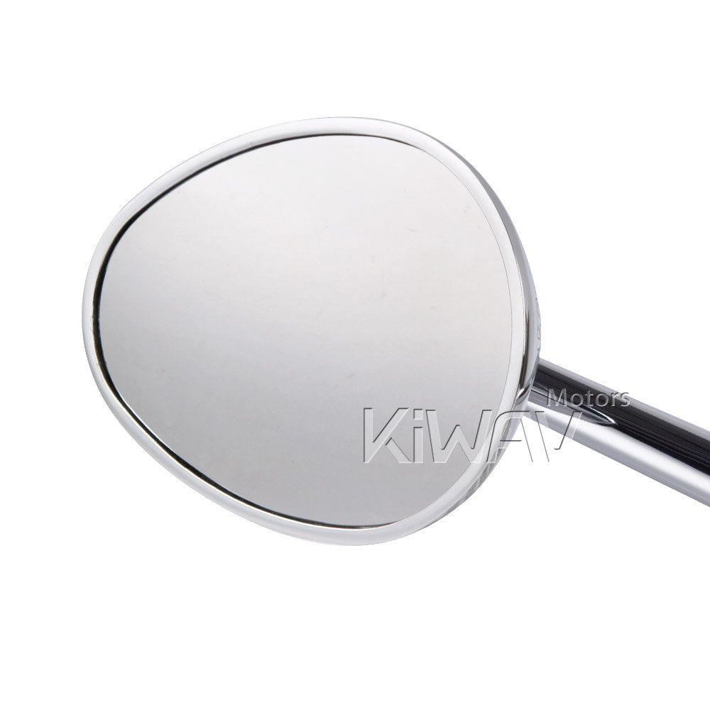 KiWAV Magazi Ellipse motorcycle mirrors chrome fairing mount w/ matte black adapter for sports bike adjustable e by KiWAV (Image #2)