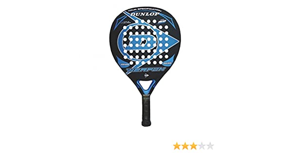 Dunlop Weapon Pala de pádel, Unisex Adulto, Negro/Azul, 38 mm ...