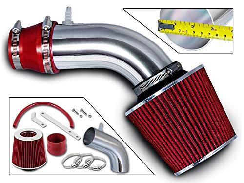 Rtunes Racing Short Ram Air Intake Kit + Filter Combo RED For 12-15 Kia Rio / 11-13 Hyundai Accent 1.6L / 12-13 Hyundai Veloster Gdi 1.6L Engine / 11-13 Hyundai Elantra 1.8L