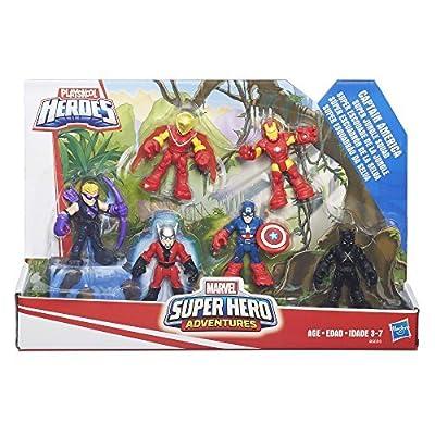 Playskool Heroes Super Hero Adventures Captain America Super Jungle Squad: Toys & Games