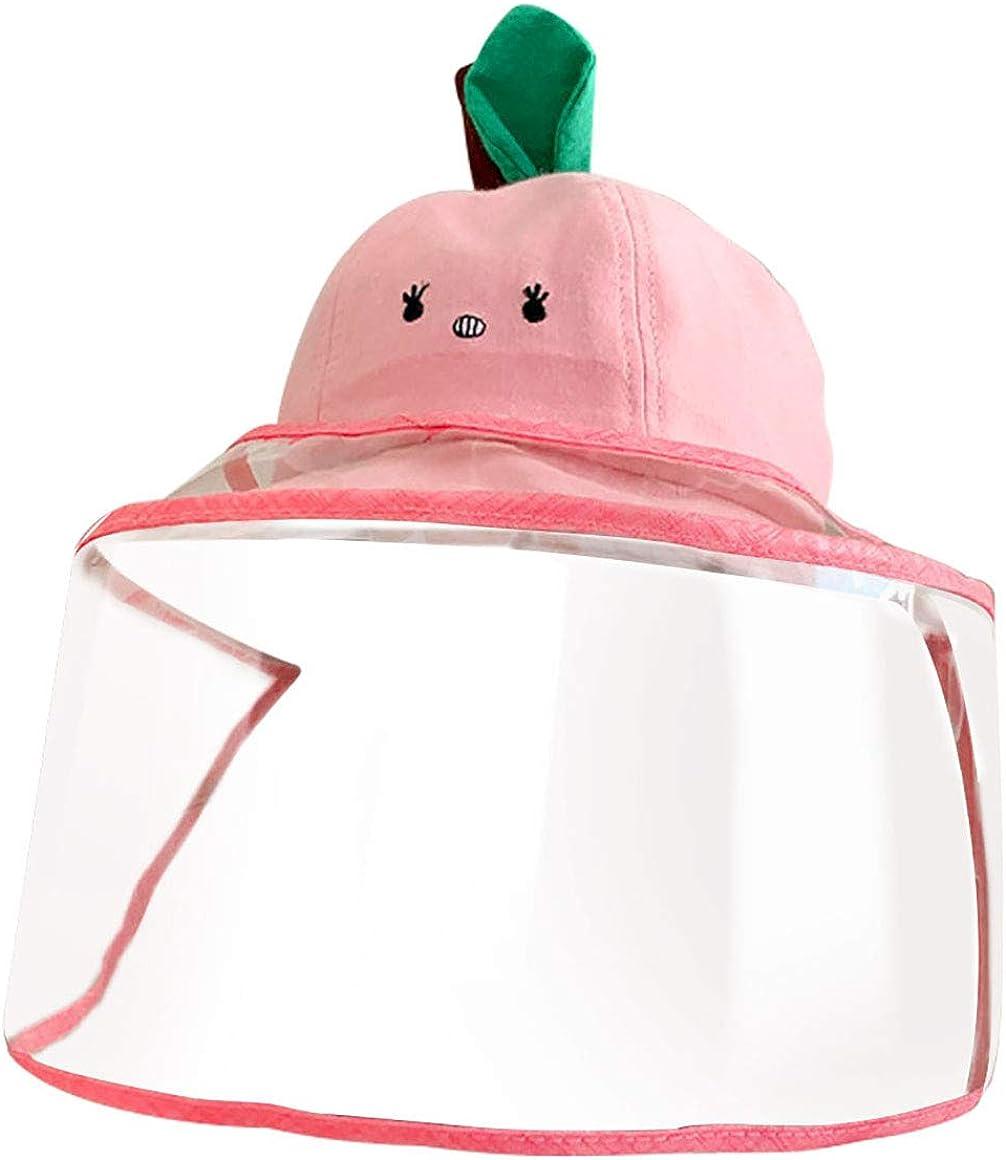 Sombrero Protector Facial Ni/ños Sombrero Protector de Pescador para Exteriores Rosa Prueba de Polvo Keleily Sombrero Protector Bebe con Pantalla de Protecci/ón Facial Prueba de Viento