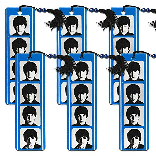 The Beatles Bookmark Set - Pack of 6 Beatles Bookmarks for Gifts, Party Supplies and Office Supplies (Licensed Merchandise)