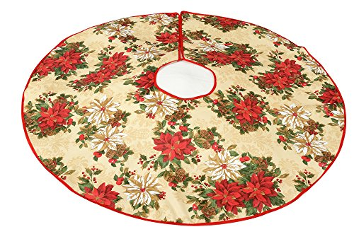 Violet Linen Decorative Christmas Garden Design Tree Skirt, ()