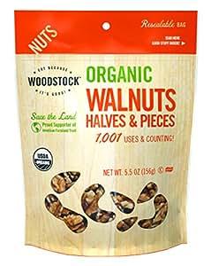 Woodstock Organic Walnuts Halves and Pieces, 5.5 oz