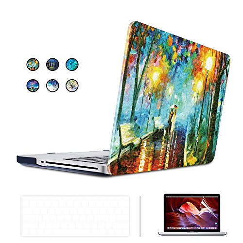 SUNKY MacBook Newest Pro 13 Case, Soft-Touch Series Plastic Hard Case Cover + Keyboard Skin + HD Screen Protector for Macbook Pro 13-inch 13' 2016 Release with/without Touch Bar and Touch ID - Lover
