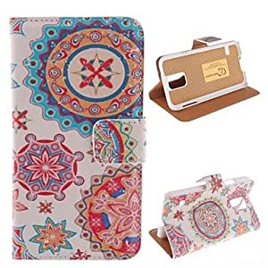 QHY Graffiti Design PU Leather Full Body Protective Case with Stand for Samsung S5 I9600