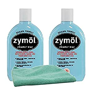 Zymol Natural Liquid Cleaner Wax (16 oz.) Bundle with Microfiber Cloth (3 Items)