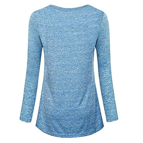 V Manches DAYLIN Bleu Courtes Femme Solid Top Col Dcontract Chemisier rqXRYA