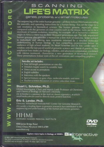Howard Hughes Medical Institute, Scanning Life's Matrix; Genes, Proteins, and Small Molecules, 2 tape set with 4 lectures