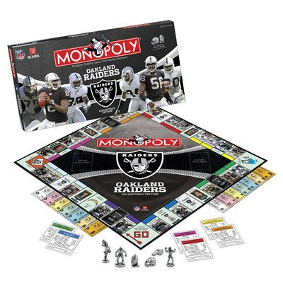 NFL Collectors Edition Monopoly NFL Team: Oakland Raiders