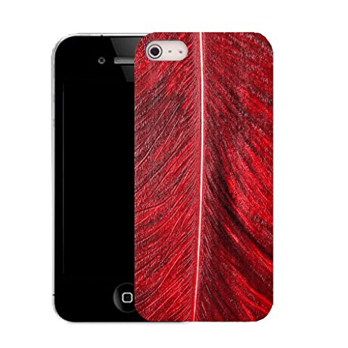 Mobile Case Mate iPhone 5c clip on Dur Coque couverture case cover avec Stylet - red palm leaf Motif