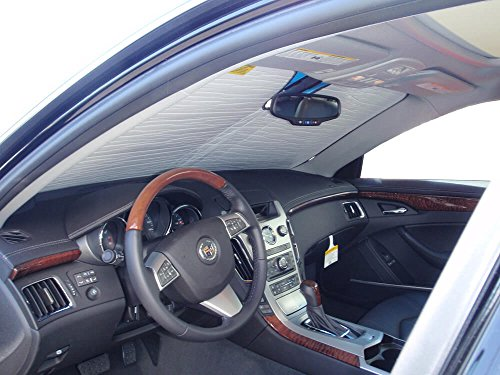 The Original Windshield Sun Shade, Custom-Fit for Cadillac CTS Sedan 2008, 2009, 2010, 2011, 2012, 2013, Silver Series ()