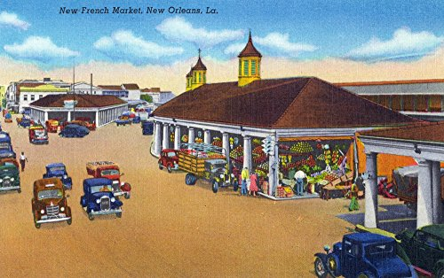 (New Orleans, Louisiana - View of the New French Market (16x24 Giclee Gallery Print, Wall Decor Travel Poster))