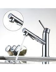 Homelody ausziehbar Küchenarmatur Chrom Wasserhahn Küche Mischbatterie Armatur Spülbecken Einhebelmischer Spültischarmatur mit Brause Spültischbatterie Küchenspüle