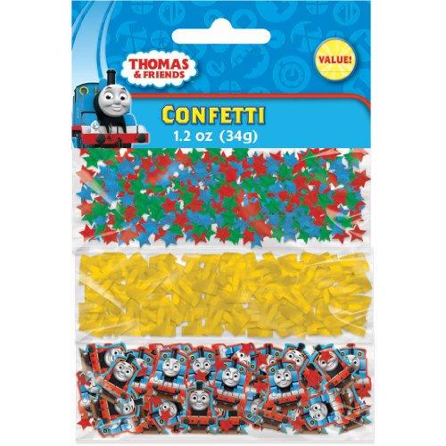Amscan Fun Thomas The Tank Value Pack Birthday Party Confetti, 1.2 oz, Multi (Thomas The Tank Engine Costume)
