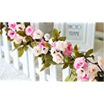 Lannu-2-Pack-Artificial-Rose-Vine-Flowers-Fake-Garland-Ivy-Flowers-Silk-Hanging-Garland-Plants-for-Home-Wedding-Party-Decorations-Pink-Champagne