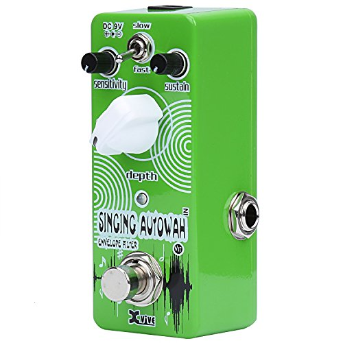 Xvive Auto Wah Bass Guitar Effects Pedal Envelope Filter - Singing Autowah V17 (Wah Effects Pedal)