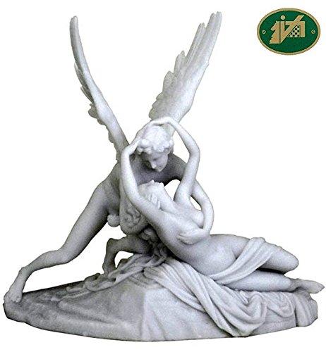 Italfama Statua Amore e Psiche di A.Canova riproduzione in resina bianca cm.30x29. Elegante prodotto firmato Firenze.