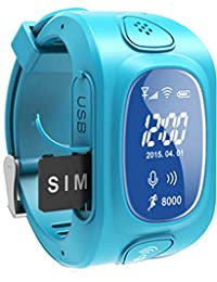 GPS/GSM/Wifi Tracker Watch for Kids Children Smart Watch with SOS Support GSM phone Android&IOS Anti Lost Y3 (blue)