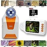 Indigi Digital Portable Microscope / Magnifier 10x-500x 2.7'' LCD 4x LED Light FREE 32GB - Learning & Education Digital Pocket Microscope Camera