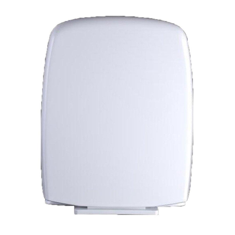 Universal WC-Sitz Quadratisch Versenkt Stumm Toilettendeckel Antibakteriell Dickes PP-Toilettenbrett,Weiß-44-4736.5cm