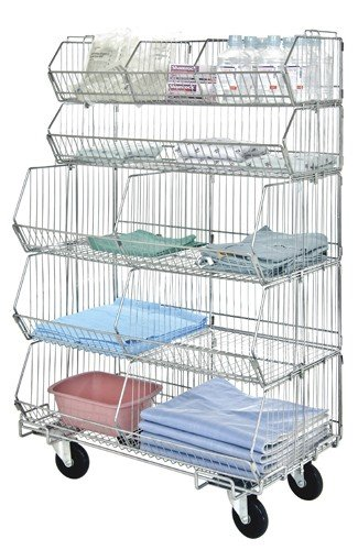 (Quantum Storage Systems Mobile Modular Wire Stacking Baskets 60