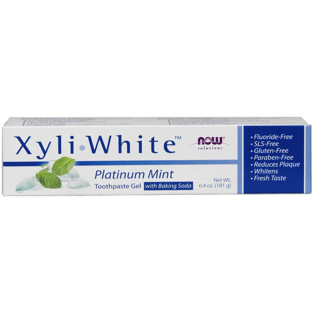 Now Solutions XyliWhite Platinum Mint Toothpaste Gel with Baking Soda,6.4-Ounce