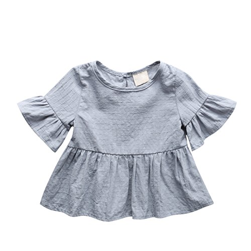 Baby Girl Dress, Lotus Leaf Style Toddler Dress / Dance Skirt for 1-4 Years,Grey,80(9-12 (The Purge Girls)