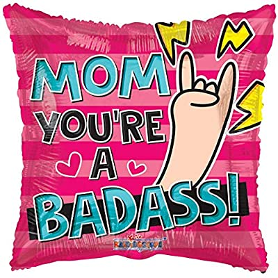 "18"" Mom Your a Bad Ass Mother's Day Helium Foil Balloon (5 Pack): Health & Personal Care"