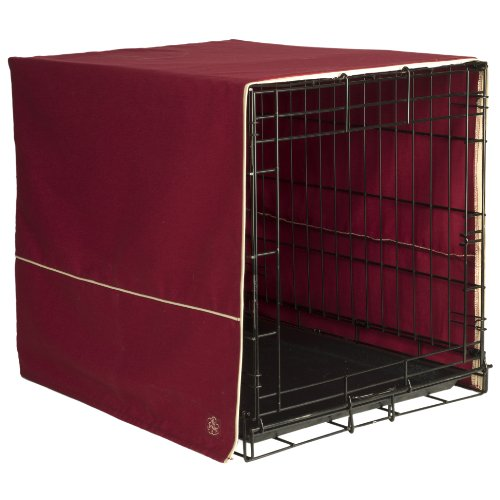 Pet Dreams- Dog Crate Cover- Burgundy Red- X-Large