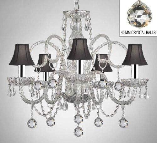 Amazon.com: Lámpara de araña de cristal con tonos negros y ...