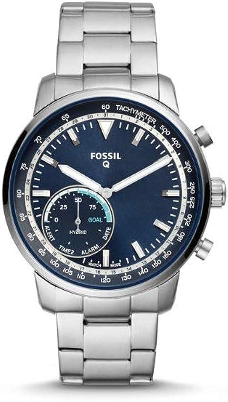 Fósil - Q Goodwin Smartwatch híbrido Silver con Correa de Acero ...