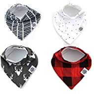 Baby Bandana Bibs by The Good Baby – 4 Pack Baby Bibs...