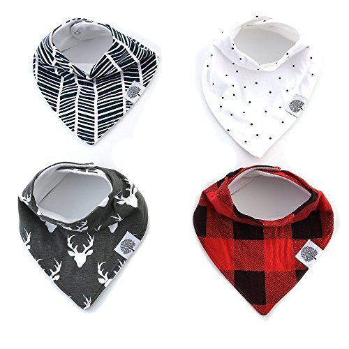 The Good Baby Bandana Drool Bibs – 4 Pack Baby Bibs for Boys -