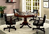HOMES: Inside + Out Idf-GM339T-5PC Chryso Interchangeable 5 Piece Game Table Set