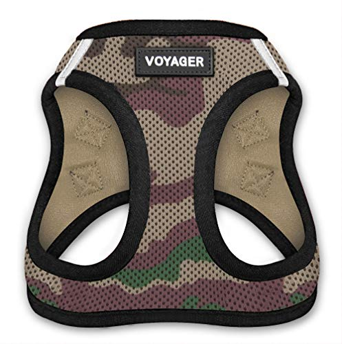 Voyager Step-In Air Dog Harness – All Weather Mesh, Step In Vest Harness for Small and Medium Dogs by Best Pet Supplies – Army Base, Small (Chest: 14.5″ – 17″)