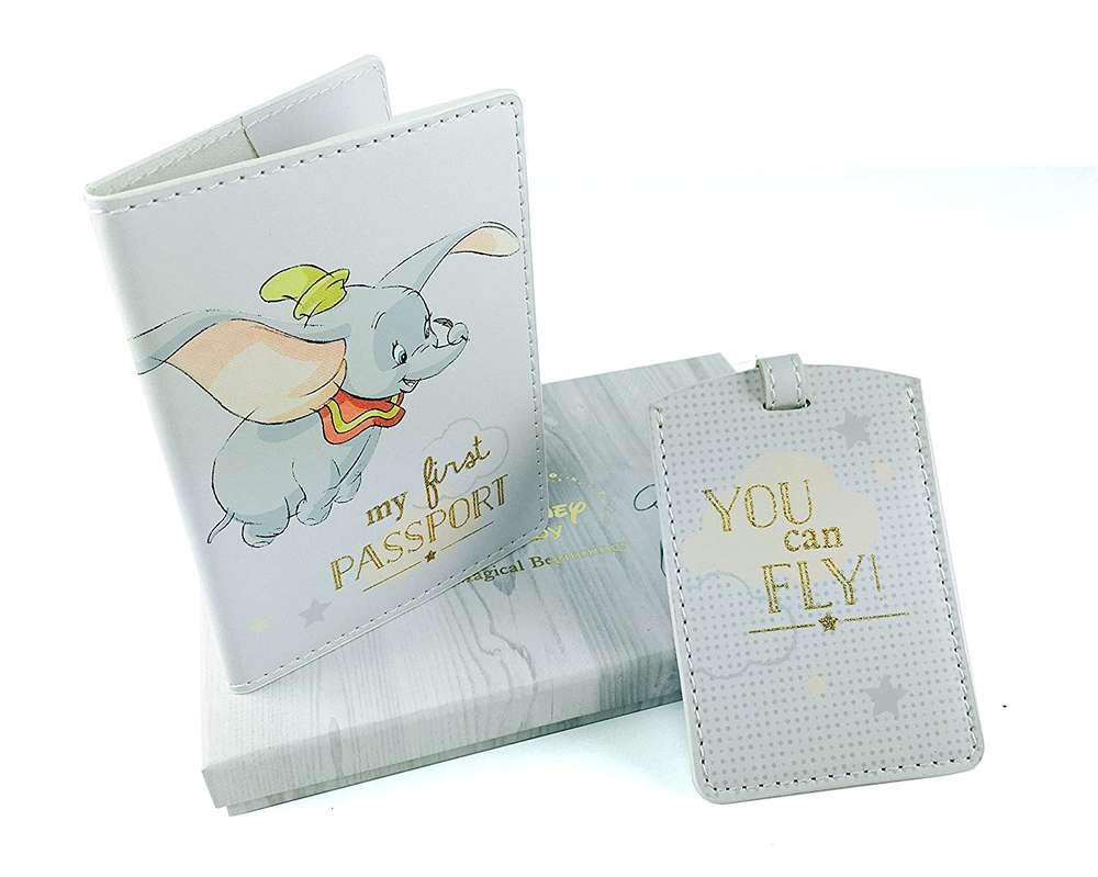 Disney Baby Dumbo Baby Passport Cover and Luggage Tag Boxed New by wdd