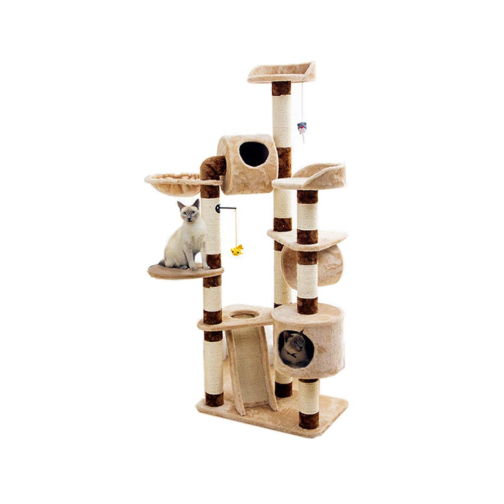 YQQ Cat Tree, Cat Ring Cat Climbing Frame Hammock Cat Hole Jump Platform 65  40  162cm