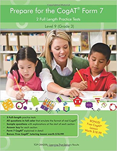 Amazoncom Two Full Length Colored Practice Tests For The Cogat