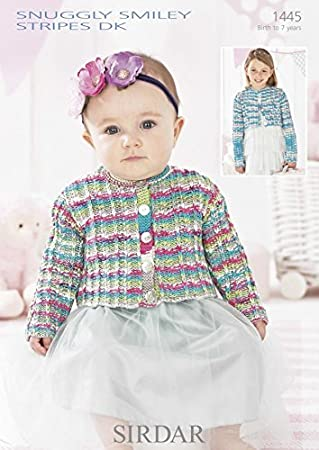 Sirdar Baby Jacke, gestreift, Smiley, DK Strickmuster 1445: Amazon ...