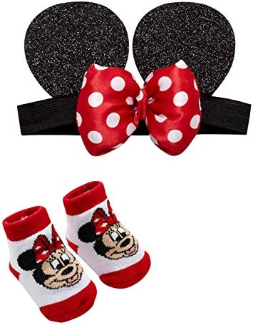 SmallLarge Minnie Mouse Face Dot Sailor Bow in White /& Metallic Gold-Baby Girl Disney Fabric Toddler Headband or Hair Clip Girl