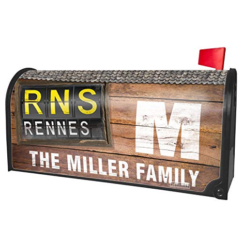 (NEONBLOND Custom Mailbox Cover RNS Airport Code for Rennes)